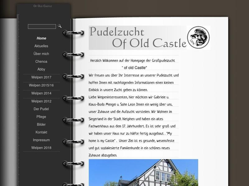Screenshot von http://of-old-castle.de/